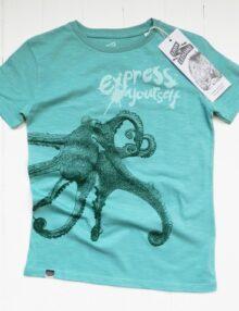 Kindershirt Oktopus Rock the Kid