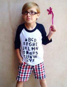 Raglan ABC Punk Kinderkleider Rock the Kid