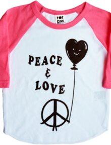 Raglan Peace & Love Mädchenkleider Rock the Kid