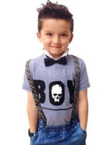 T-Shirt Boy Jungskleider Rock the Kid